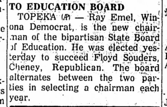 Ray Emel and State Board of Education -