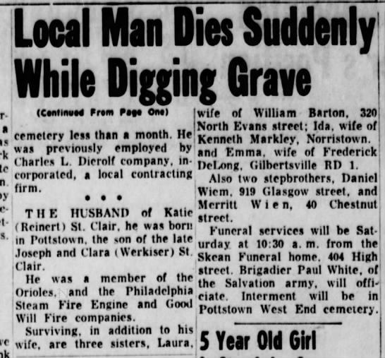 Joe St  Clair Jr  Death continued - Newspapers com