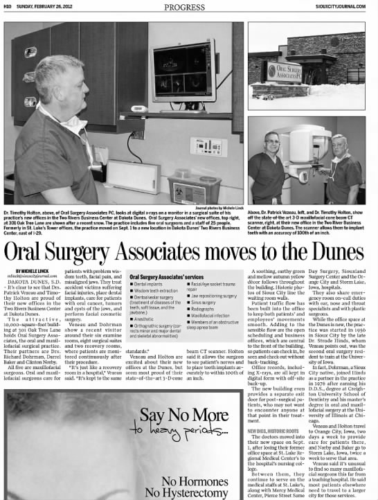 Oral Surgery Associates moves to the Dunes -