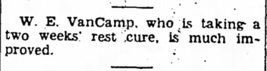 Walter Van Camp -
