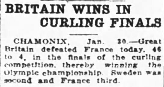 Britain wins curling -