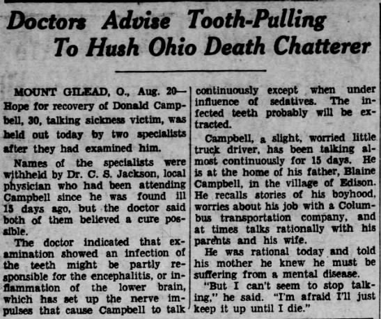- Doctors Advise Tooth - Pulling To Hush Ohio...
