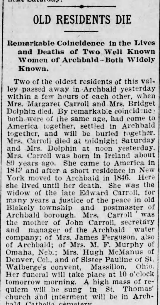 Margaret and Edward Carroll -