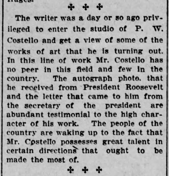 PWC Columnist visits PW's studio Scr Rep Aug 12 1906 pg 4 -