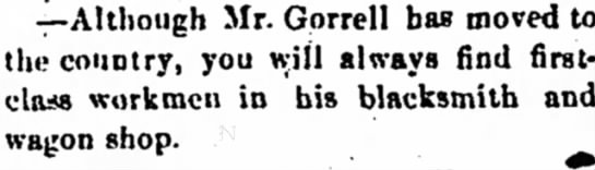 Mr. Gorrell has moved to country. - -r-Although Mr. Gprrell has moved to the...