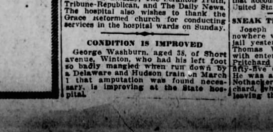 George Washburn injury -