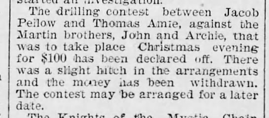 1896 drilling contest cancelled -
