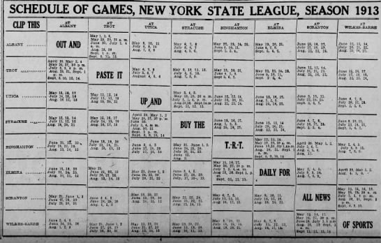 1913 ScheduleState League -