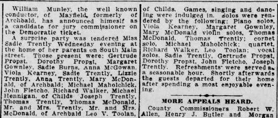 Sadie's Party 1913