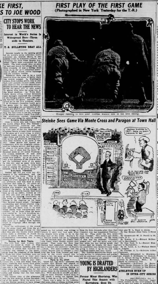 Steinke New Game Board at The Scr Times Bldg Scr Rep Oct 9 1912 pg 14 -