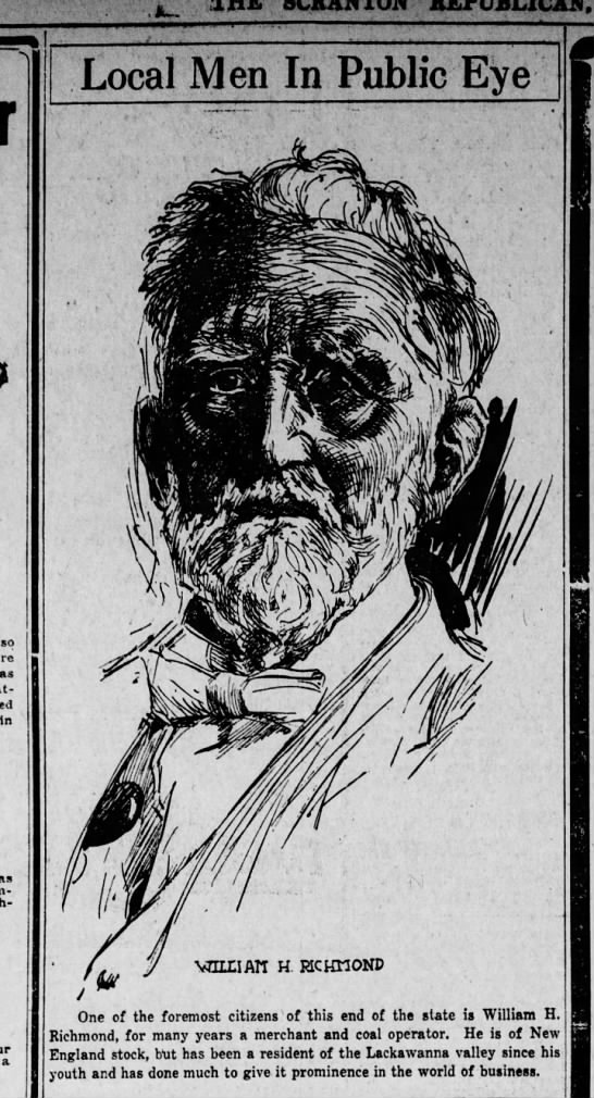 Jerry Costello Portrait of William H. Richmond Scr Rep Apr 18 1919 pg 6 -