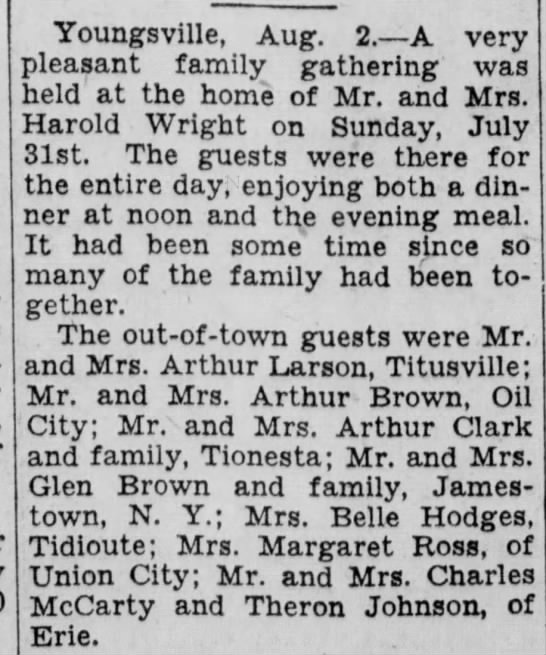 Brown family gathering (1932) -