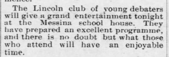 Lincoln Club Messina School -