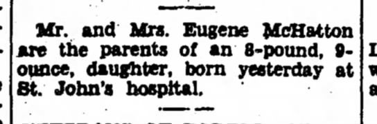 McHatton, Eugene, The Iola Register, 20 Sep 1947 -