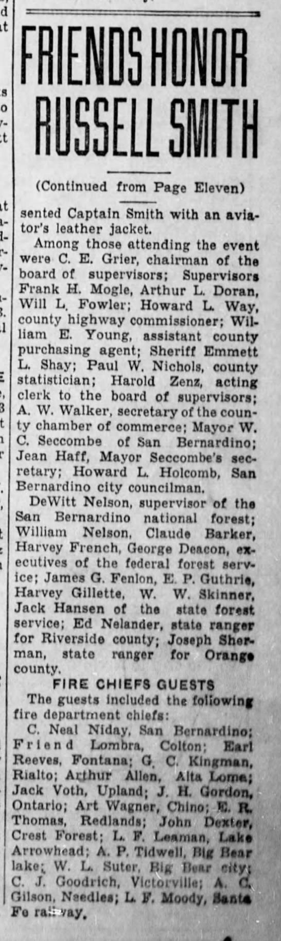1942-4-26 Friends Honor Russel Smith Pg. 2 -