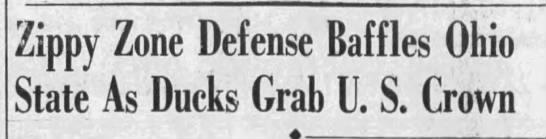 """Zippy Zone Defense Baffles Ohio"" -"