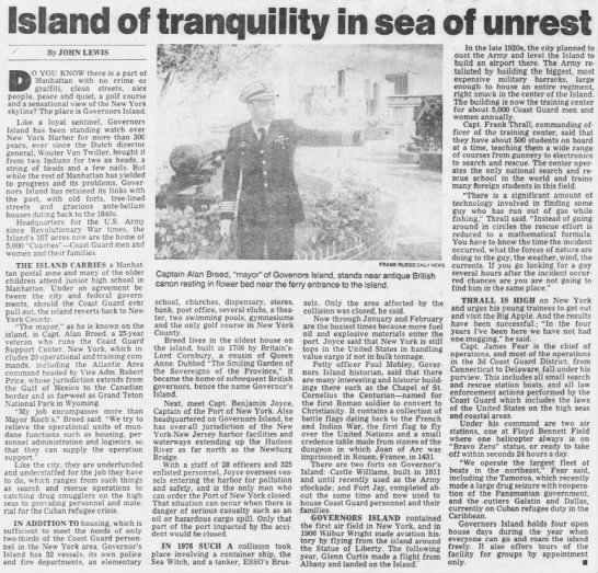 Island of tranquility in sea of unrest -