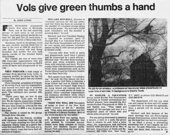 Vols give green thumbs a hand -