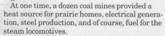 At one point, a dozen coal mines near Frank -