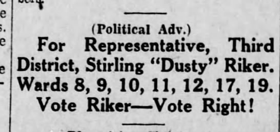 Vote for Dusty Riker