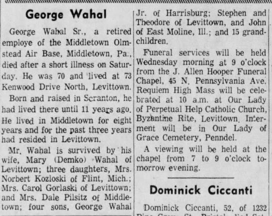 Bristol Daily Courier Jan 22, 1962, pg 4 -