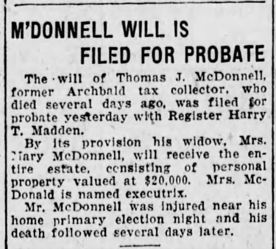TJ McDonnell's Will