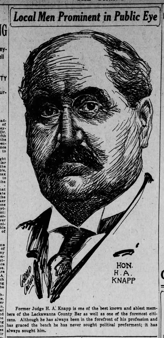 Jerry Costello Drawing of Hon. H A Knapp Aug 7 1918 pg 2 -