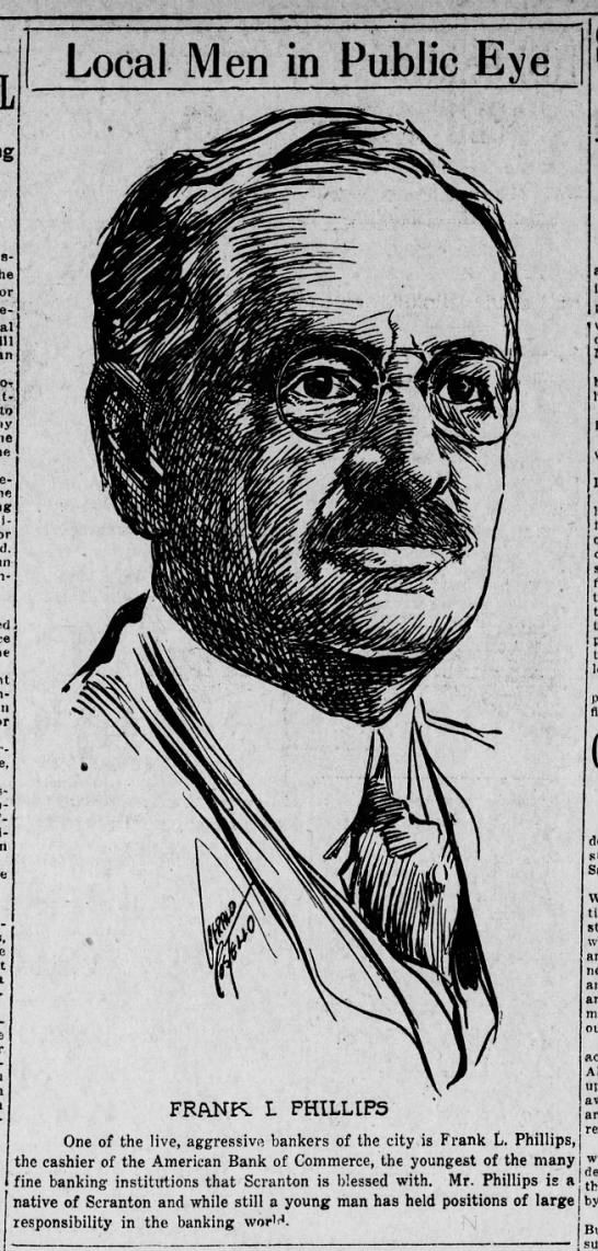Jerry Costello Portrait of Frank J Phillips Scr Rep Oct 15 1918 pg 2 -