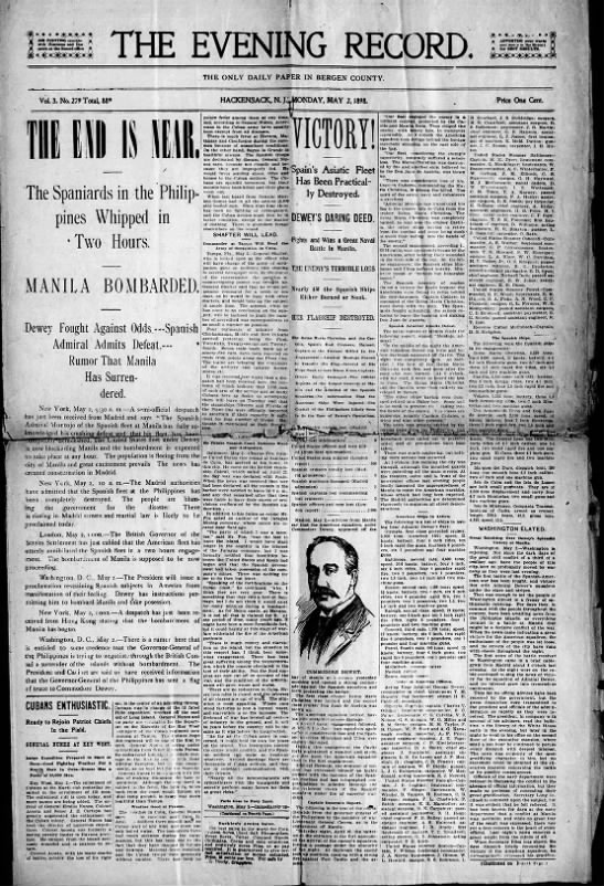 Has Manila Surrendered? The Record headline 1898 -