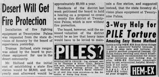 1943-11-30 Desert Will Get Fire Pretection (T. P.) -