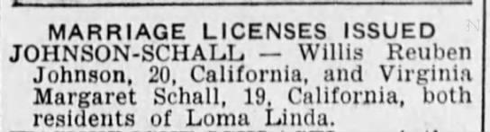 Aunt Virginia's newspaper license 21 June 1942 -