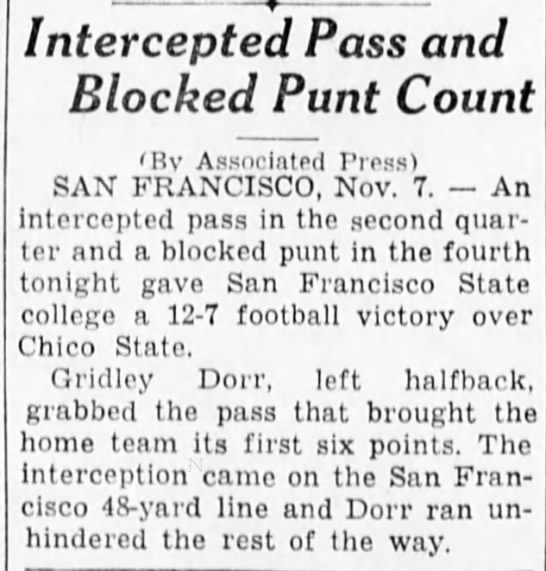 Intercepted Pass and Blocked Punt Count -