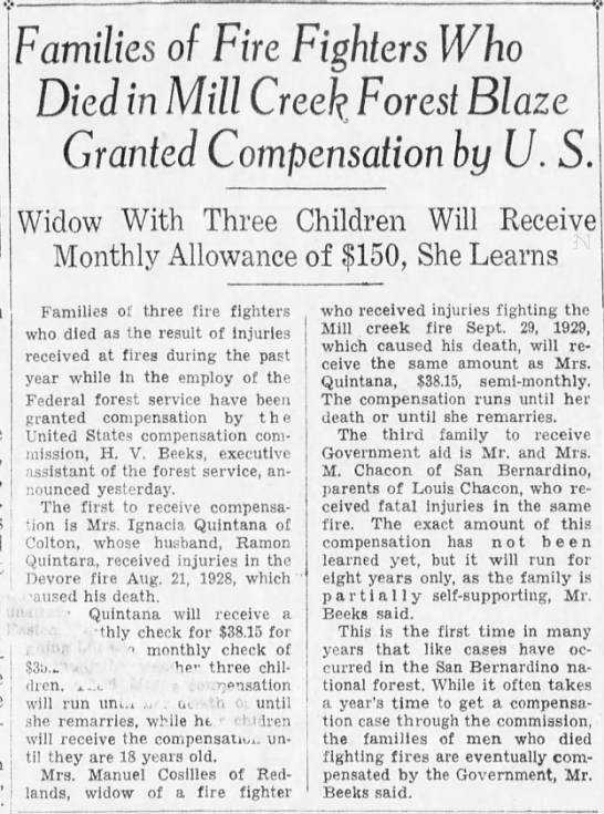 1929-10-10 Families of Fire Fighters Killed Granted Compensation By U.S. -