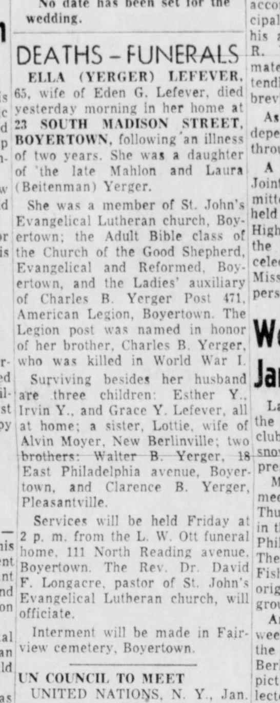 Pottstown Mercury, Pottstown, PA, 12 Jan 1954, page 13 -