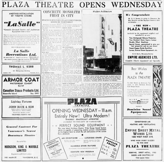 Plaza theatre opening -