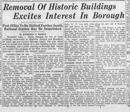 Woodcliff Lake, March 21, 1957 -