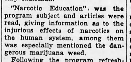 """- """"Narcotic Education"""", was the program subject..."""