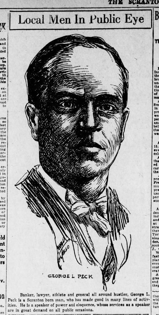 Jerry Costello Portrait of George L Peck Scr Rep Nov 8 1918 pg 2 -