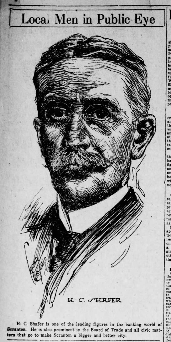 Jerry Costello Portrait of H C Shafer Scr Rep Dec 3 1918 pg 2 -