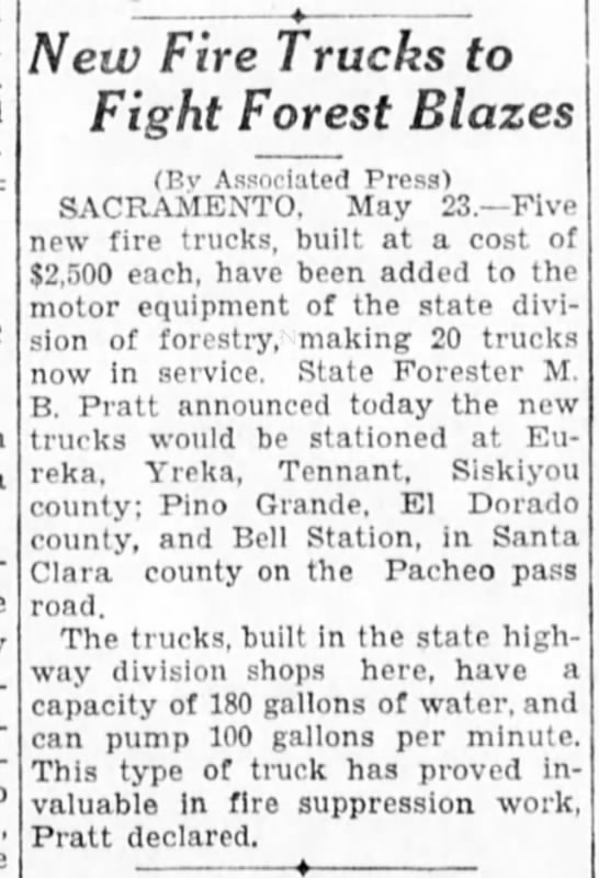 1931-5-24 New Fire Trucks to Fight Forest Blazes -
