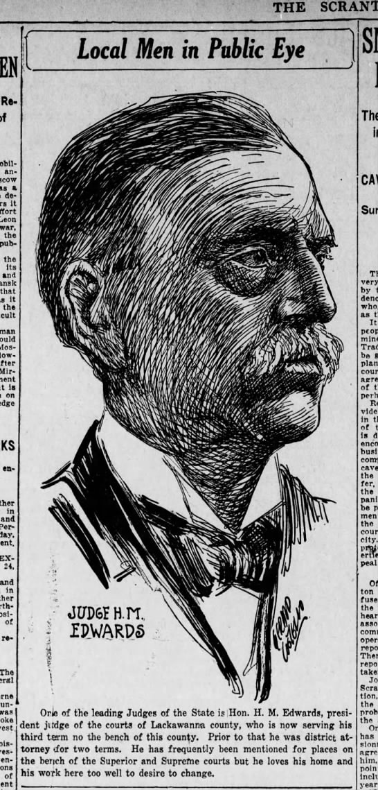 Jerry Costello Portrait of Judge H M Edwards Scr Rep July 26 1918 pg 2 -