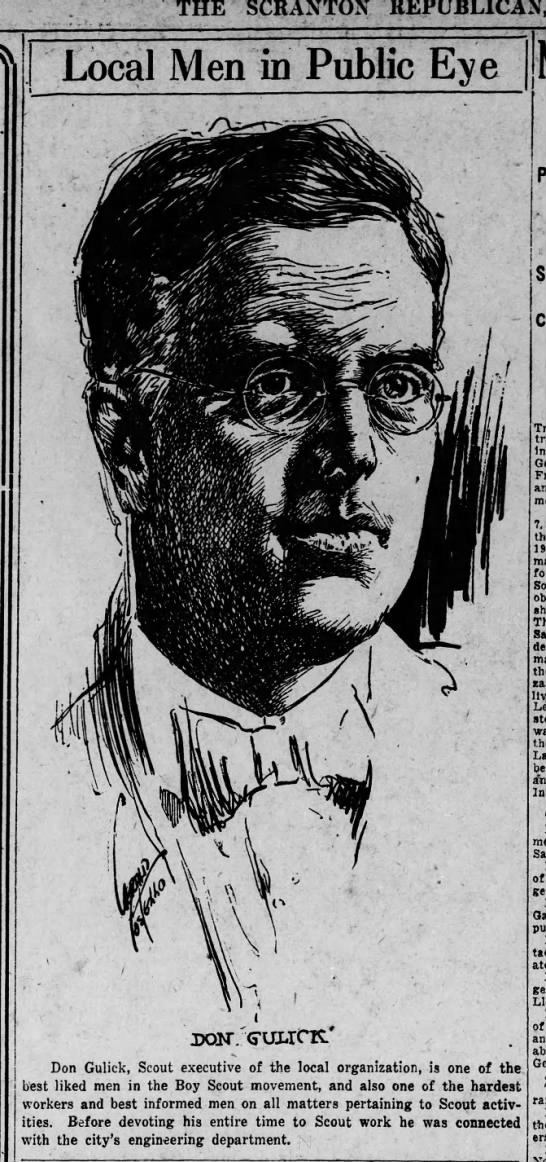 Jerry Costello Portrait of Don Gulick Scr Rep Jan 7 1919 pg 4 -