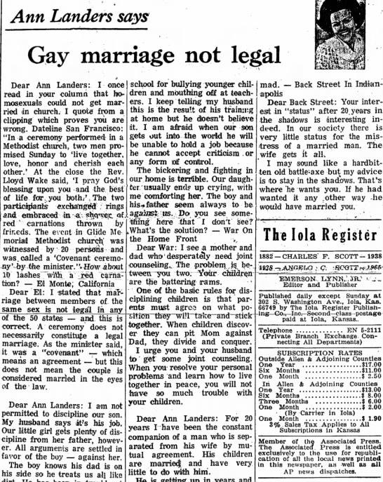july 15, 1971 Iola Register, Kasas -