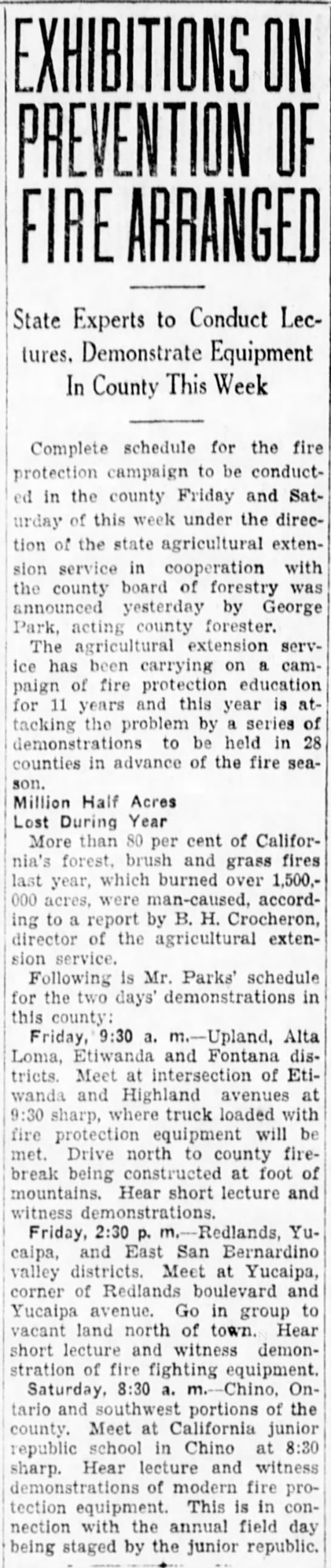1929-4-24 Exhibitions on Prevention of Fire Arranged. -