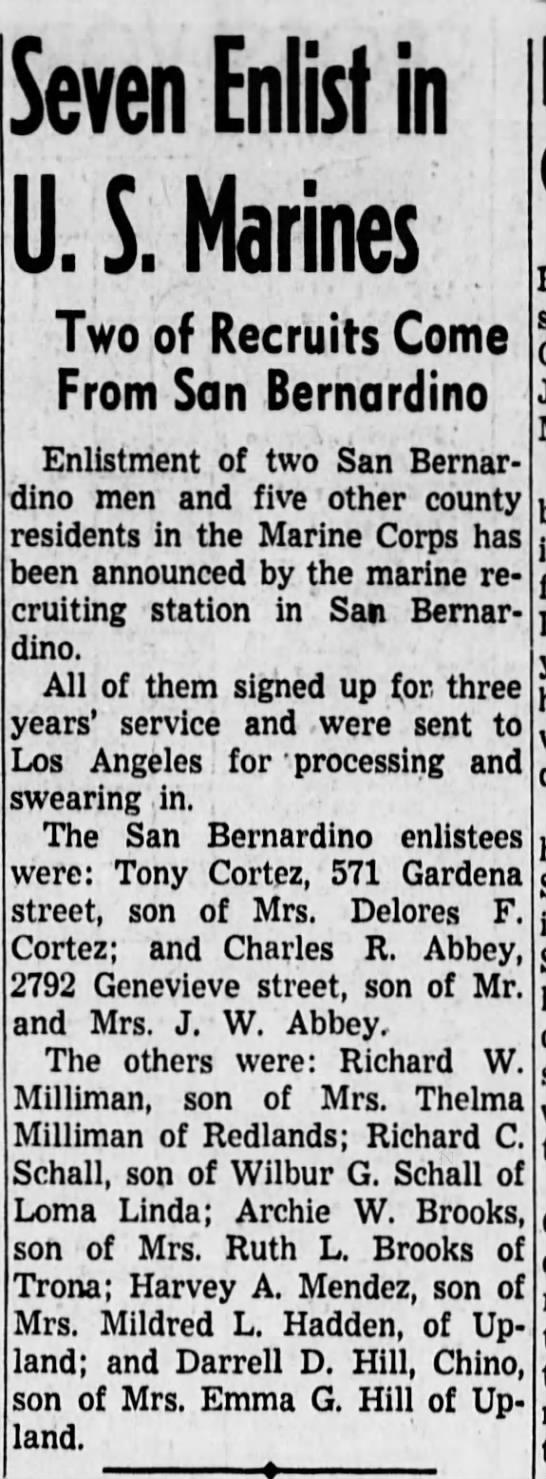 Dad's newspaper enlistment - 19 Jan 1951 -