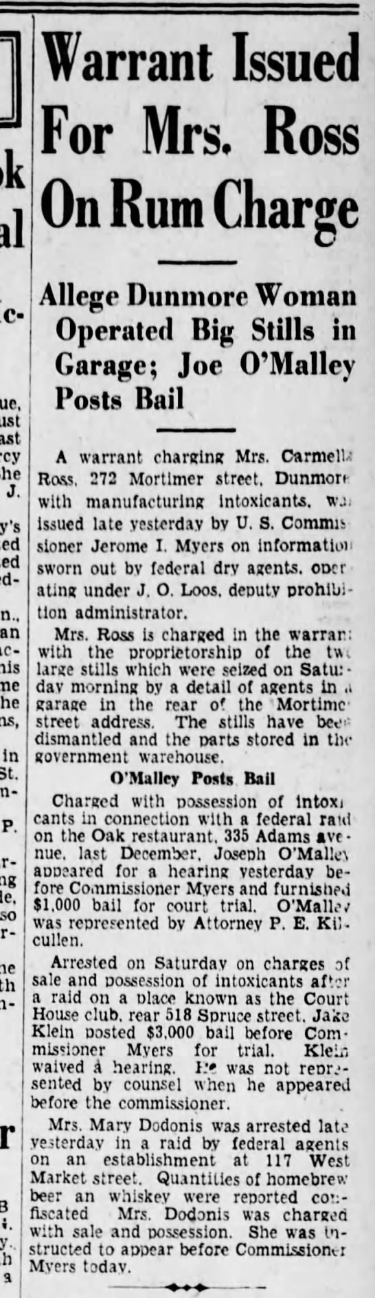 PWC O'Malley Posts Bail Scr Rep Feb 2 1932 pg 11 -