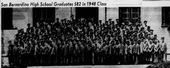 Boys San Bernardino High School Class of 1948, The Sun, 11 June 1948 -