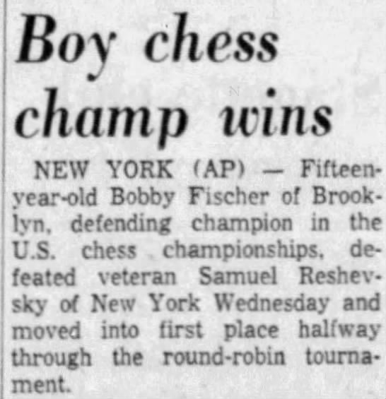 Boy chess champ wins -