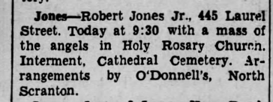 5-4-1936 Robert Jones Jr. funeral notice -