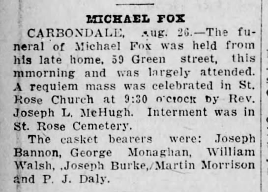 Funeral of Michael Fox -